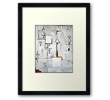 The White Noise Framed Print