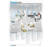 Learn French - Conversations in a bistro Poster