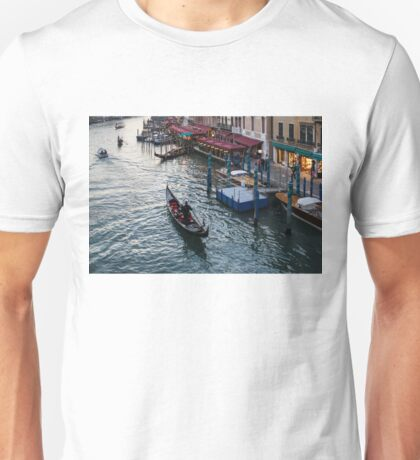 Venice, Italy - a Graceful Venetian Gondola on the Grand Canal Unisex T-Shirt