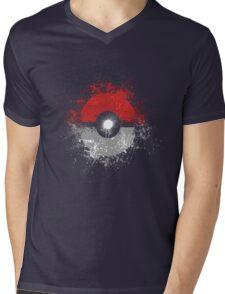 Poke'ball Mens V-Neck T-Shirt