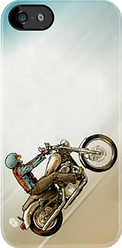 Motorbike Cat! by James Fosdike