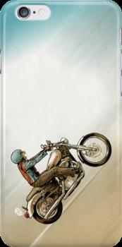 Motorbike Cat! by James Fosdike