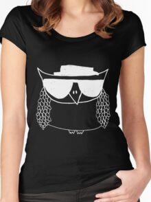 Heisenberg, the owl -white Women's Fitted Scoop T-Shirt