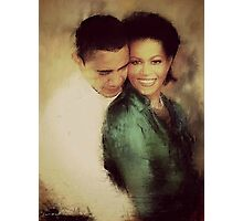 PRESIDENT OBAMA & THE FIRST LADY Photographic Print