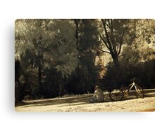 Taking a break in the shade Canvas Print