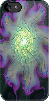 Iphone case - Gnarly Mother of Pearl Flower by Pam Amos
