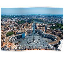 St.Peter's square and part of Rome Poster