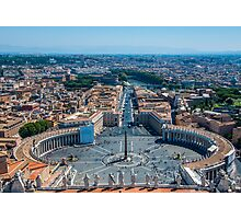 St.Peter's square and part of Rome Photographic Print