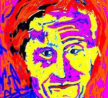 Digital Fauve portrait by Richard  Tuvey