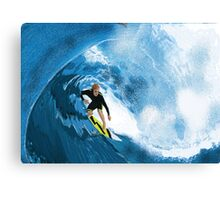 Surfer in the Tube Canvas Print