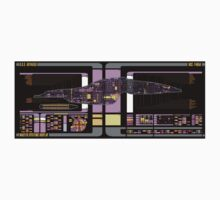 Intrepid Class USS Voyager Highly Detailed Schematic Baby Tee
