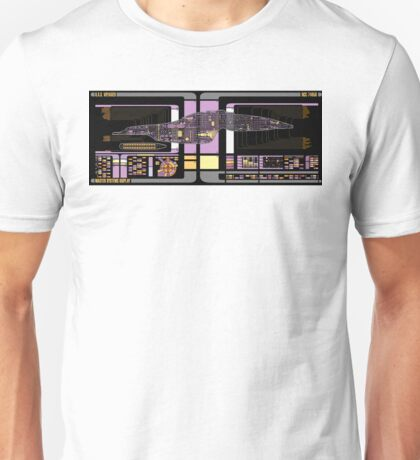 Intrepid Class USS Voyager Highly Detailed Schematic Unisex T-Shirt
