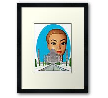 head of the taj mahal Framed Print