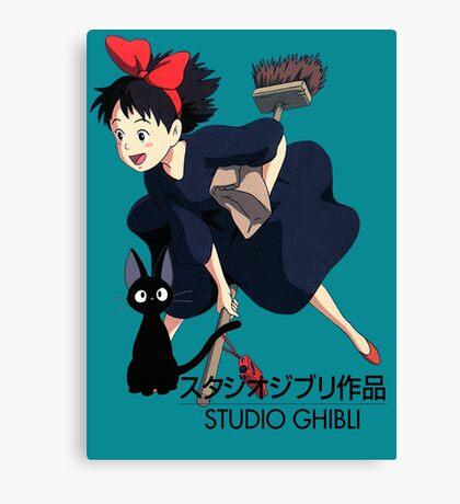 Kiki and Jiji - Studio Ghibli Canvas Print