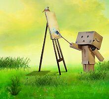 Danbo the artist by Anne Seltmann