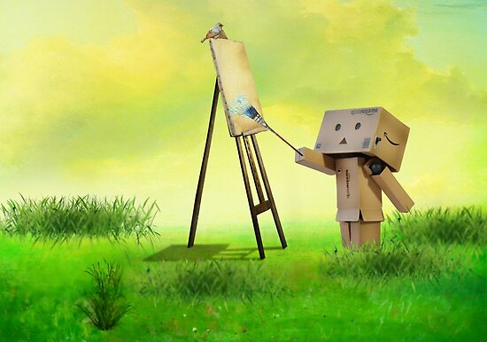 Danbo the artist by Anne Seltmann