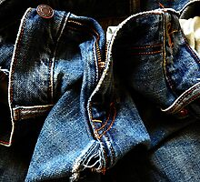 Worn Blue Jeans by David Mellor