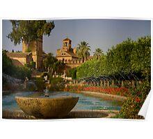 Cordoba, Alcázar de los Reyes Cristianos gardens Poster