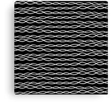Simple Modern Black & White Swirly Stripes Canvas Print