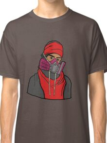 Gas Masked Protester Classic T-Shirt
