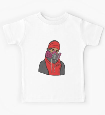 Gas Masked Protester Kids Tee