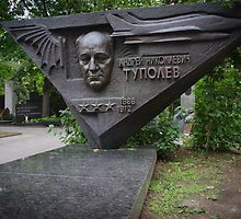 Russia, Moscow, 2012 - Tupolev grave, Novodevichy Cemetery by Derek  Rogers