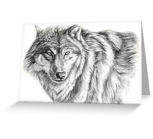 Wolf g2012-031 by schukina Greeting Card