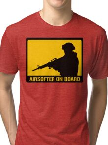 Airsofter on board Tri-blend T-Shirt