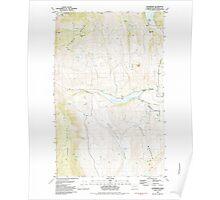 USGS Topo Map Washington State WA Enterprise 241063 1982 24000 Poster