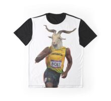 Usain Goat Man Graphic T-Shirt