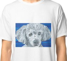 Beau Poodle Pet Portrait Painting Classic T-Shirt