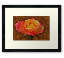 Antiqued Rose Framed Print