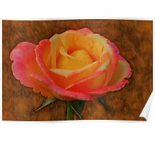 Antiqued Rose Poster