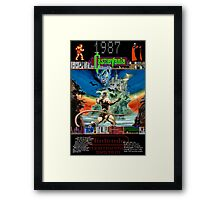 Castlevania 1987 Framed Print