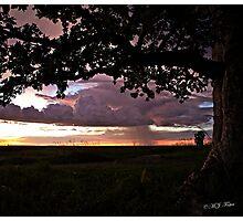 Wet season sunset. Derby, West Kimberley, Western Australia. Photographic Print