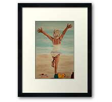 I believe I can fly.... Framed Print