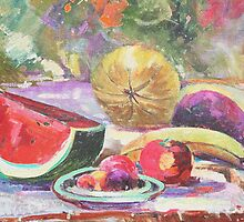 Still Life with Fruit and Pixels  by KelseyGallery