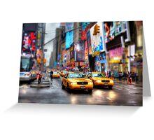 Times Square Tilt & Shift Greeting Card