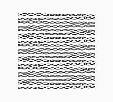 Simple Modern White & Black Swirly Stripes Classic T-Shirt