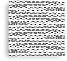 Simple Modern White & Black Swirly Stripes Canvas Print