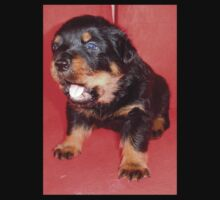 Rottweiler Puppy Howling For Attention Baby Tee