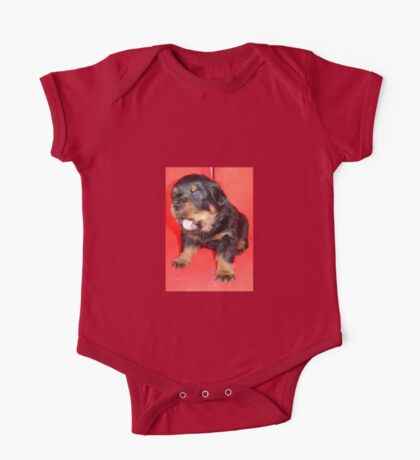 Rottweiler Puppy Howling For Attention One Piece - Short Sleeve