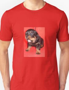 Rottweiler Puppy Howling For Attention Unisex T-Shirt