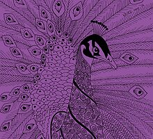 Purple Peacock by Picatso