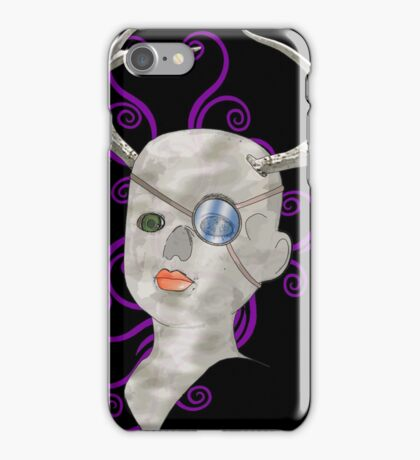 stag doll skull iPhone Case/Skin