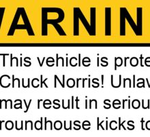 Chuck Norris Car Warning Sticker