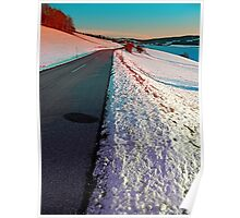 Winter road in vibrant colors Poster