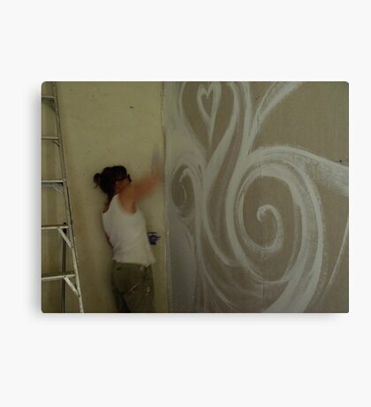 painting into a corner Canvas Print