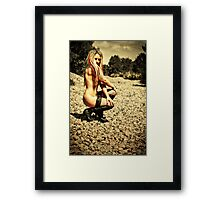Nude Outdoors by Aquinas Framed Print