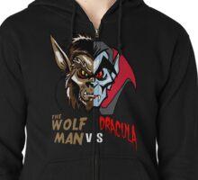 Wolfman vs Dracula Zipped Hoodie